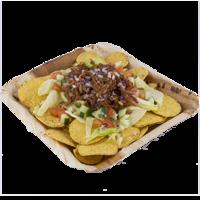 Pulled jackfruit nachos square